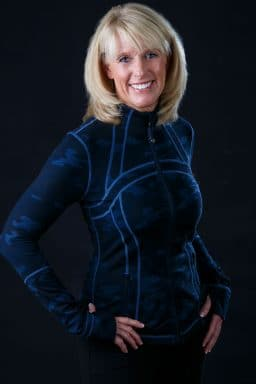 health coach fitness instructor 60s female Lululemon