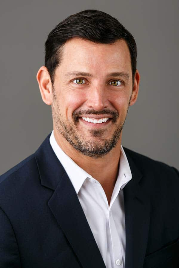 brunette white male business headshot