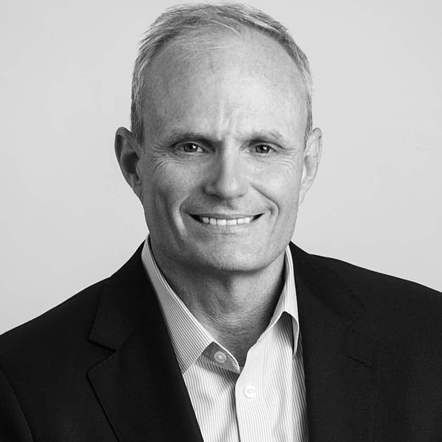 middle aged white man black and white headshot