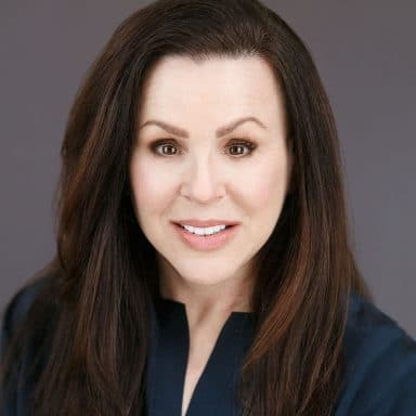 middle aged white female brunette LinkedIn picture headshot