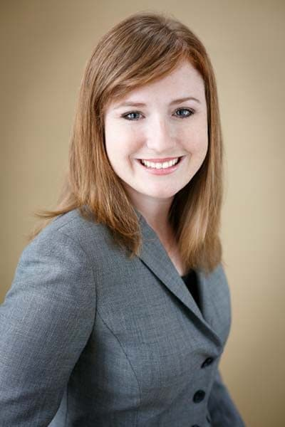 young female redhead business headshot