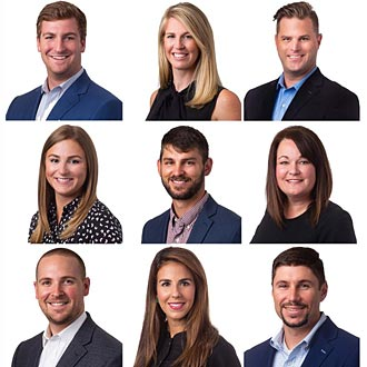 Atlanta Office Headshots Team Image with White Background